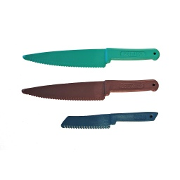 [MESSER] Lexan Plastic Kitchen Knife Set, 3 pieces
